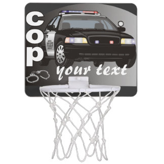 Personalized Cop Mini Basketball Hoops