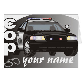 Personalized Cop Stationery Note Card
