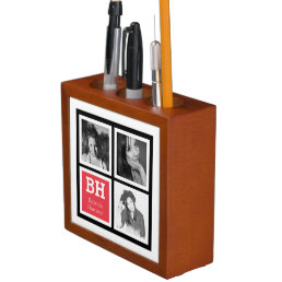 Personalized Coral Pen Holder 3 Instagram Photos