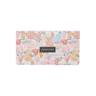 Personalized | Coral Reef Checkbook Cover