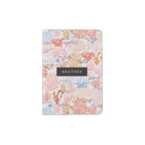 Personalized | Coral Reef Passport Holder