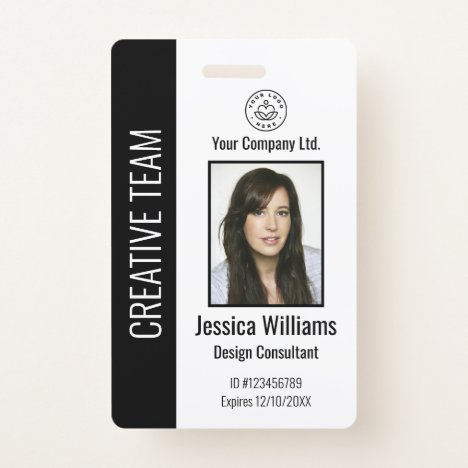Personalized Corporate Employee ID Badge Black