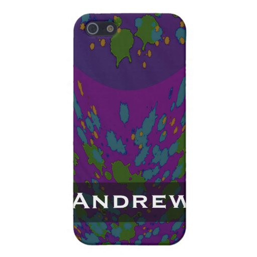 Personalized Cosmic Purple Abstract Case For iPhone 5