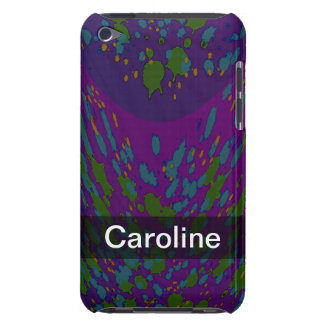 Personalized Cosmic Purple Abstract iPod Case-Mate Case