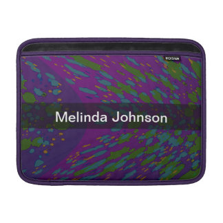 Personalized Cosmic Purple Abstract MacBook Sleeves
