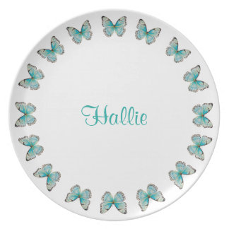 Personalized Costa Rica RoButterfly Melamine Plate