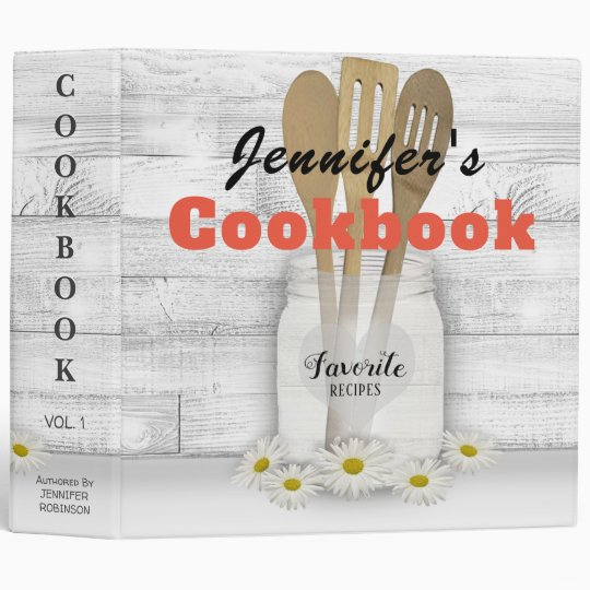 Personalized Country Cookbook 3 Ring Binder