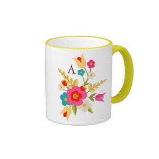Personalized | Country Floral Ringer Mug