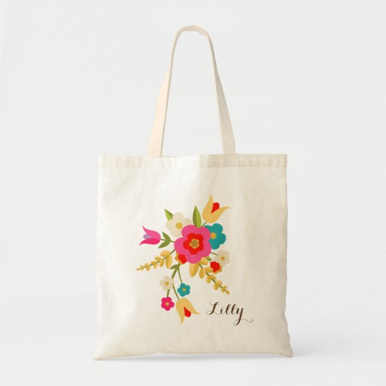 Personalized   Country Flowers Easter Tote