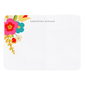 Personalized | Country Flowers 4.5x6.25 Paper Invitation Card