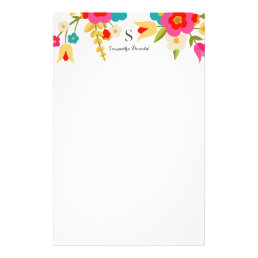 Personalized | Country Flowers Stationery