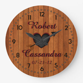Personalized Country Style Faux-Wood Wall Clock