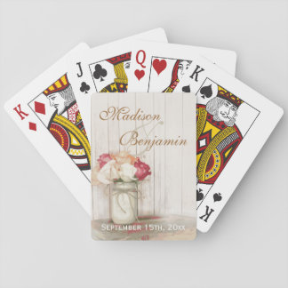 Personalized Country Wedding Favor Playing Cards
