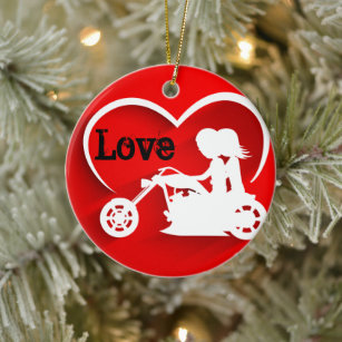 Red Sports Bike Motorcycle Personalized Christmas Ornament Motorcycle Hand Personalized Ornament