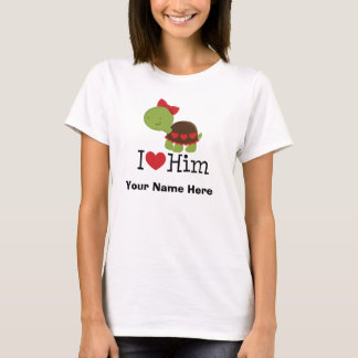 Personalized Couple Shirt Turtle Her