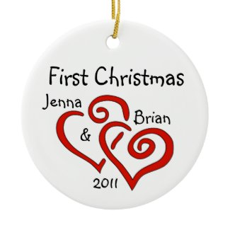 Personalized Couple's First Christmas Ornament ornament
