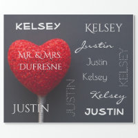 Personalized Couple's Name Wrapping Paper