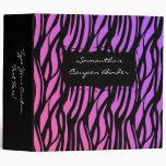 Personalized Coupon Binder Zebra Pink/Purple/Black Binder