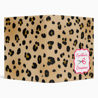 Personalized Coupon Organizer - Leopard Binder