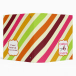 Personalized Coupon Organizer - Multicolor Stripes Binders