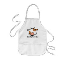 Personalized Cow Apron for Kids