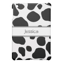 Personalized Cow Print iPad Case