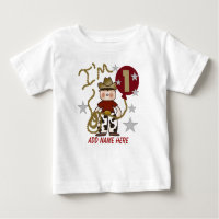 Personalized Cowboy 1st Birthday Tshirt