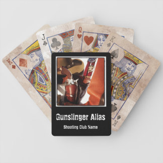 Personalized Cowboy Action Fast Draw Card Deck