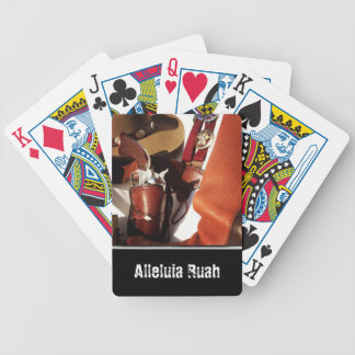 Personalized Cowboy Action Shooting Playing Cards