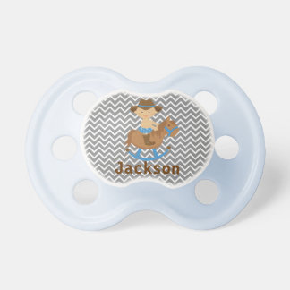Personalized Cowboy Pacifier with Baby's Name BooginHead Pacifier