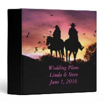 Personalized Cowboy Wedding Planning Binder