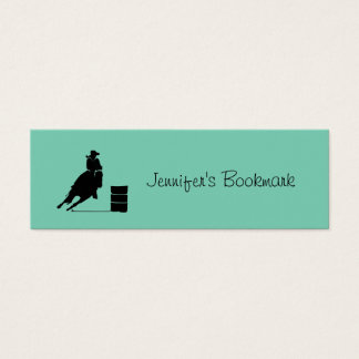 Personalized Cowgirl Barrel Racing Mini Business Card