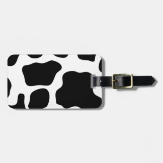 Personalized Cowhide Design Luggage Tag Template