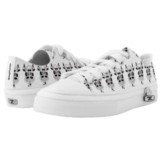 Personalized Cows White Low-Top Sneakers