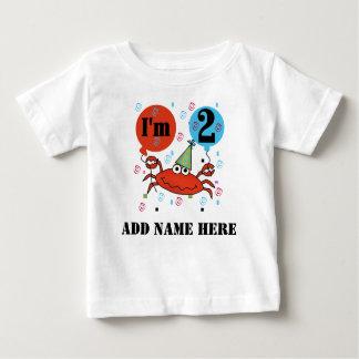 Personalized Crab 2nd Birthday Tshirt