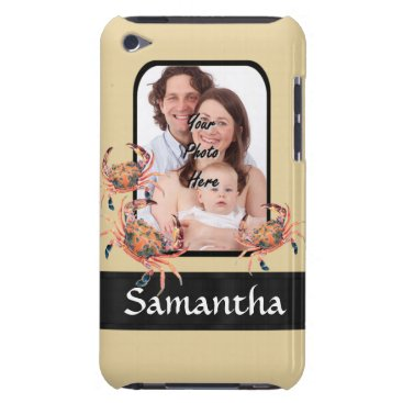Beach Themed Personalized crab barely there iPod cover
