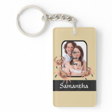 Beach Themed Personalized crab keychain