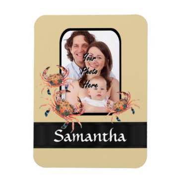 Beach Themed Personalized crab magnet