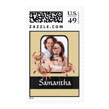 Beach Themed Personalized crab postage