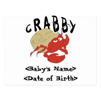 Personalized Crabby New Baby Cards
