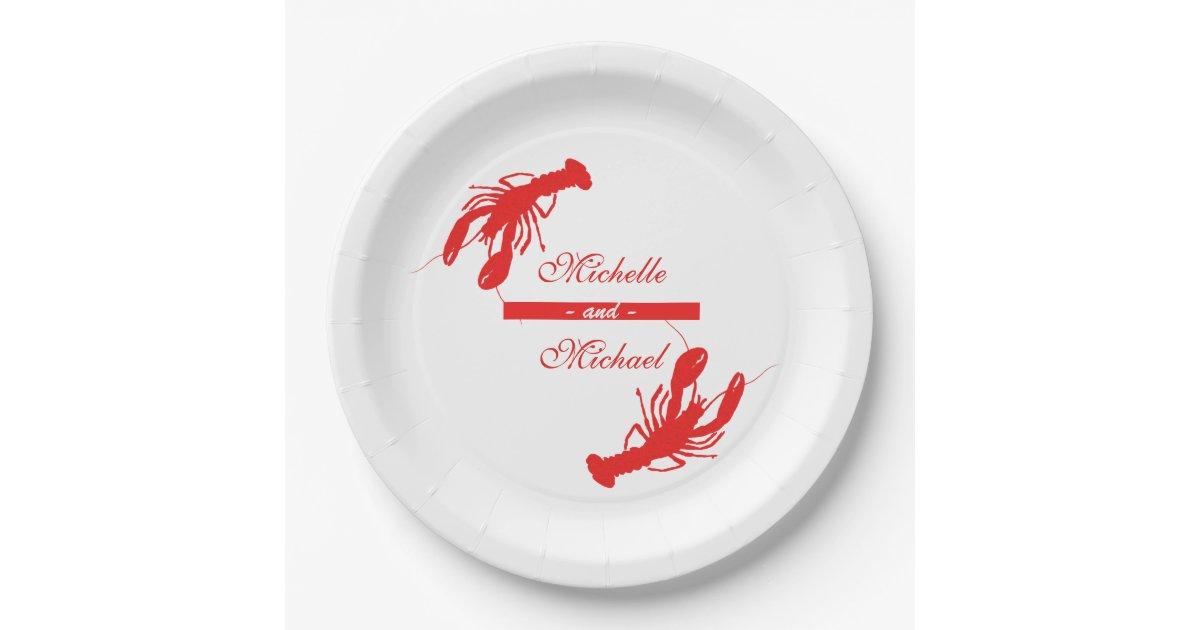 Personalized Crawfish Boil Event Plates Zazzle Com