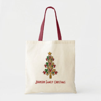 Personalized Crawfish / Lobster Christmas Tree Tote Bag