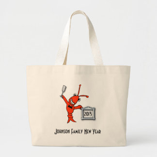 Personalized Crawfish / Lobster New Year Toast Jumbo Tote Bag
