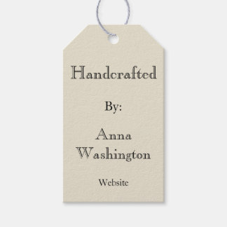 Personalized Cream Handcrafted Tag