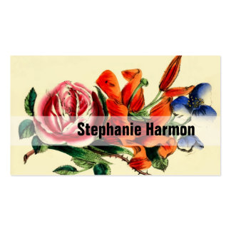 Personalized Create Your Own Vintage Floral Business Card Templates