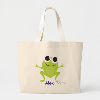 Personalized Creating My Best Life Frog Design Bag