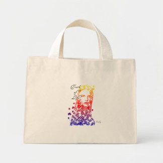 Personalized Creative Lady Portrait Design Mini Tote Bag