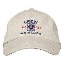 Personalized Crew Nautical Crossbones Skull Embroidered Baseball Hat