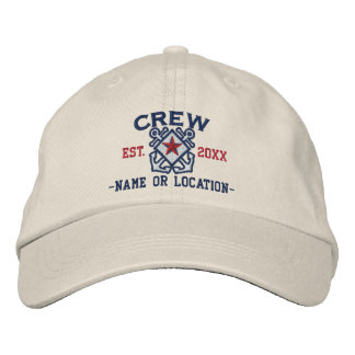 Personalized Crew Nautical Star Embroidery Embroidered Hat