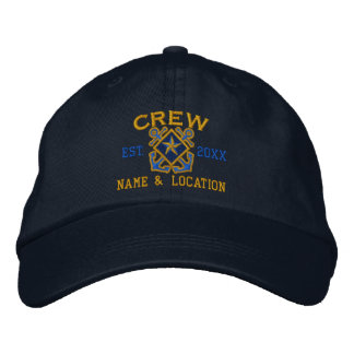 Personalized Crew Nautical Star Embroidery Embroidered Hats